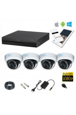 Комплект для помещений на 4 камеры RVi FHD 2MP