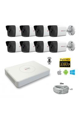 Комплект на 8 камер HiWatch IP FHD I250M