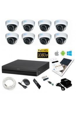 Комплект для помещений на 8 камер RVi FHD 2MP